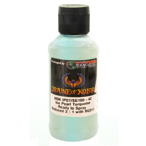 Ice Turquoise - Shimrin (1st Gen) Ice Pearl Glass Flake Pigments, 4 oz (Ready-to-Spray) House of Kolor