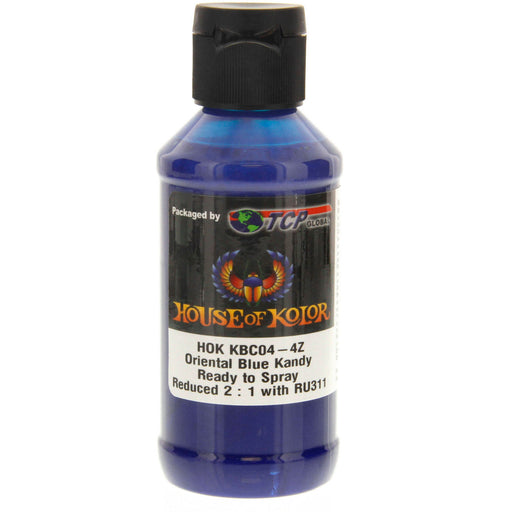 Oriental Blue Kandy - Shimrin2 (2nd Gen) Kandy Basecoat, 4 oz (Ready-to-Spray) House of Kolor
