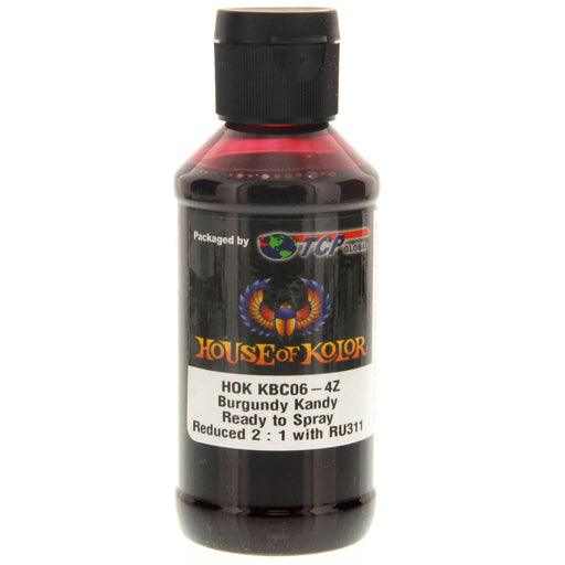 Burgundy Kandy - Shimrin (1st Gen) Kandy Basecoat, 4 oz (Ready-to-Spray) House of Kolor