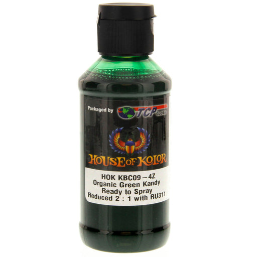 Organic Green Kandy - Shimrin2 (2nd Gen) Kandy Basecoat, 4 oz (Ready-to-Spray) House of Kolor