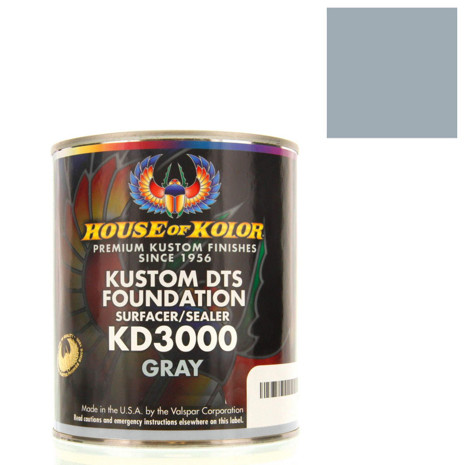 Gray - Custom Dts Foundation Surfacer Sealer Epoxy Primer, 1 Gallon House of Kolor