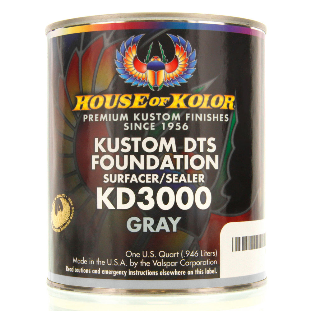 Gray - Custom Dts Foundation Surfacer Sealer Epoxy Primer, 1 Quart House of Kolor