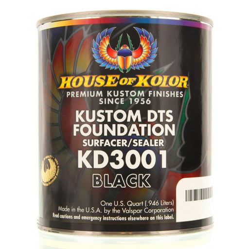 Black - Custom Dts Foundation Surfacer Sealer Epoxy Primer, 1 Quart House of Kolor