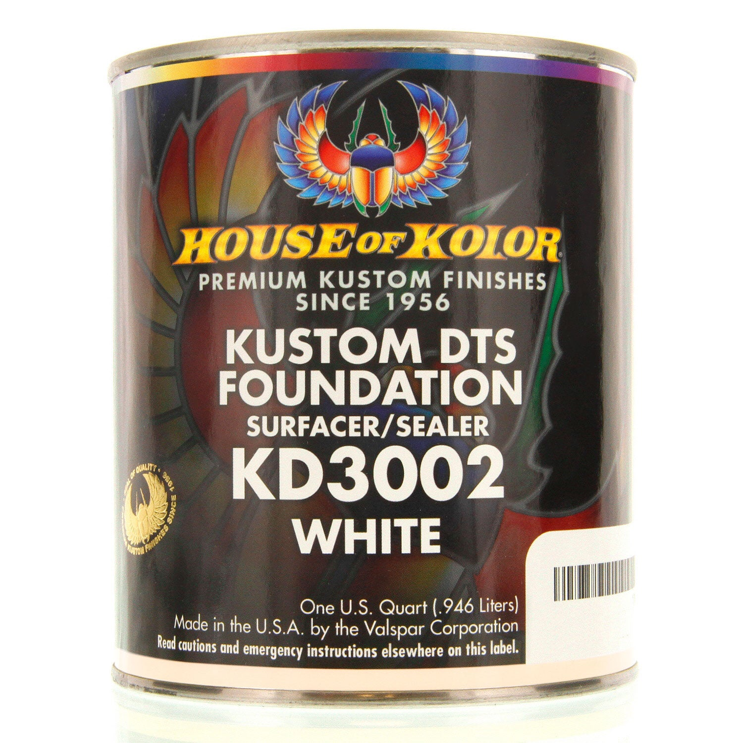 White - Custom Dts Foundation Surfacer Sealer Epoxy Primer, 1 Quart House of Kolor