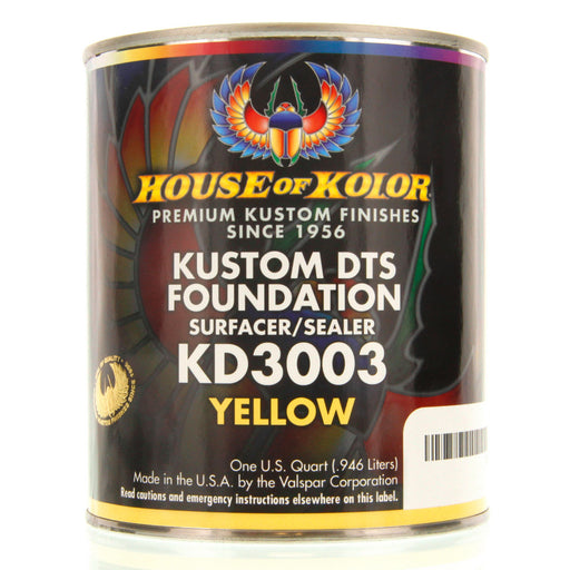 Yellow - Custom Dts Foundation Surfacer Sealer Epoxy Primer, 1 Quart House of Kolor