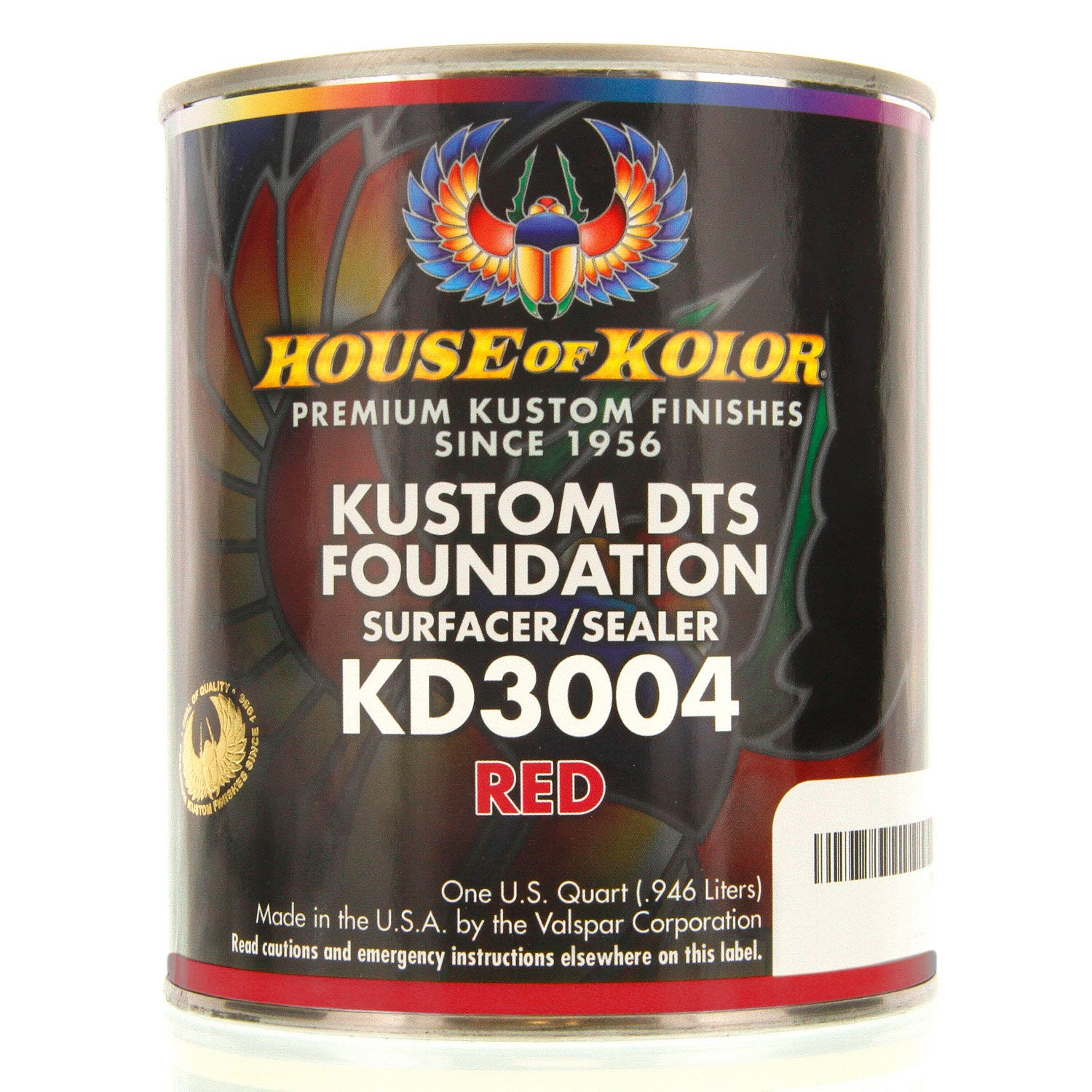 Red - Custom Dts Foundation Surfacer Sealer Epoxy Primer, 1 Quart House of Kolor