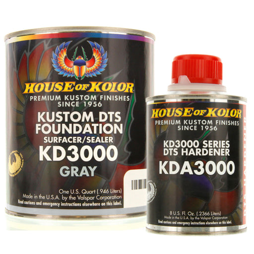 Gray Epoxy Primer Kit, 1 Quart with 1/2 Pint Activator House of Kolor