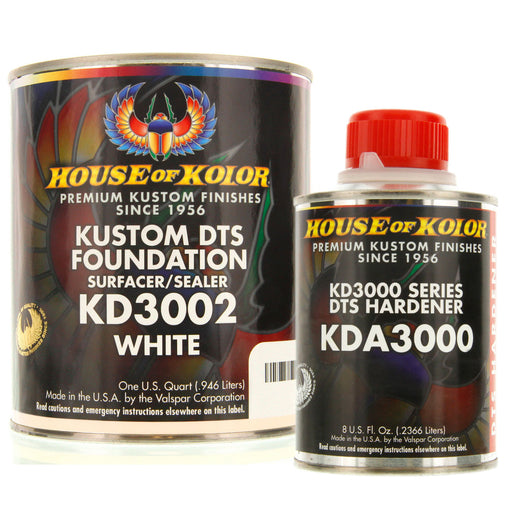 White Epoxy Primer Kit, 1 Quart with 1/2 Pint Activator House of Kolor