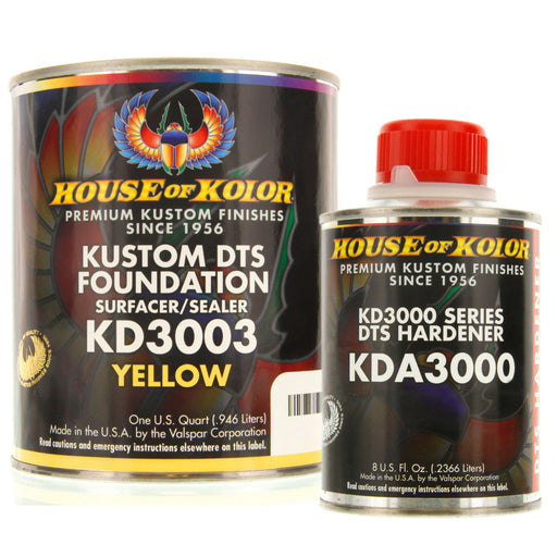 Yellow Epoxy Primer Kit, 1 Quart with 1/2 Pint Activator House of Kolor