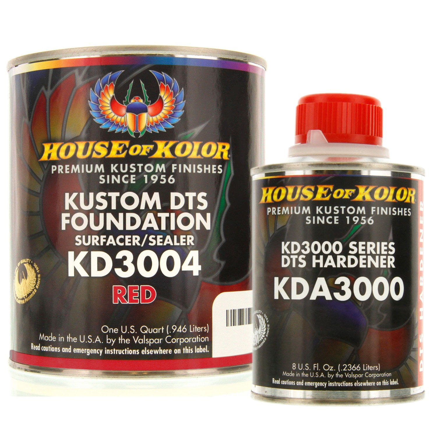 Red Epoxy Primer Kit, 1 Quart with 1/2 Pint Activator House of Kolor