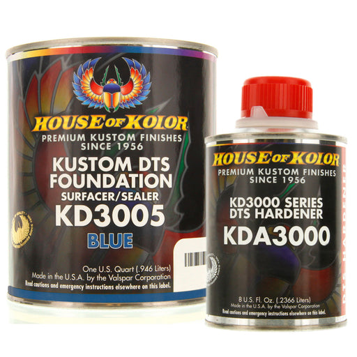 Blue Epoxy Primer Kit, 1 Quart with 1/2 Pint Activator House of Kolor