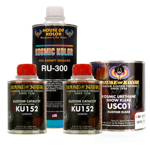 Kosmic Urethane Show Klear Kit, 1 Quart with Catalyst and Reducer House of Kolor