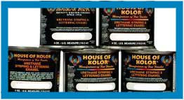 Black - Urethane Striping and Lettering Enamel, 1/4 Pint House of Kolor