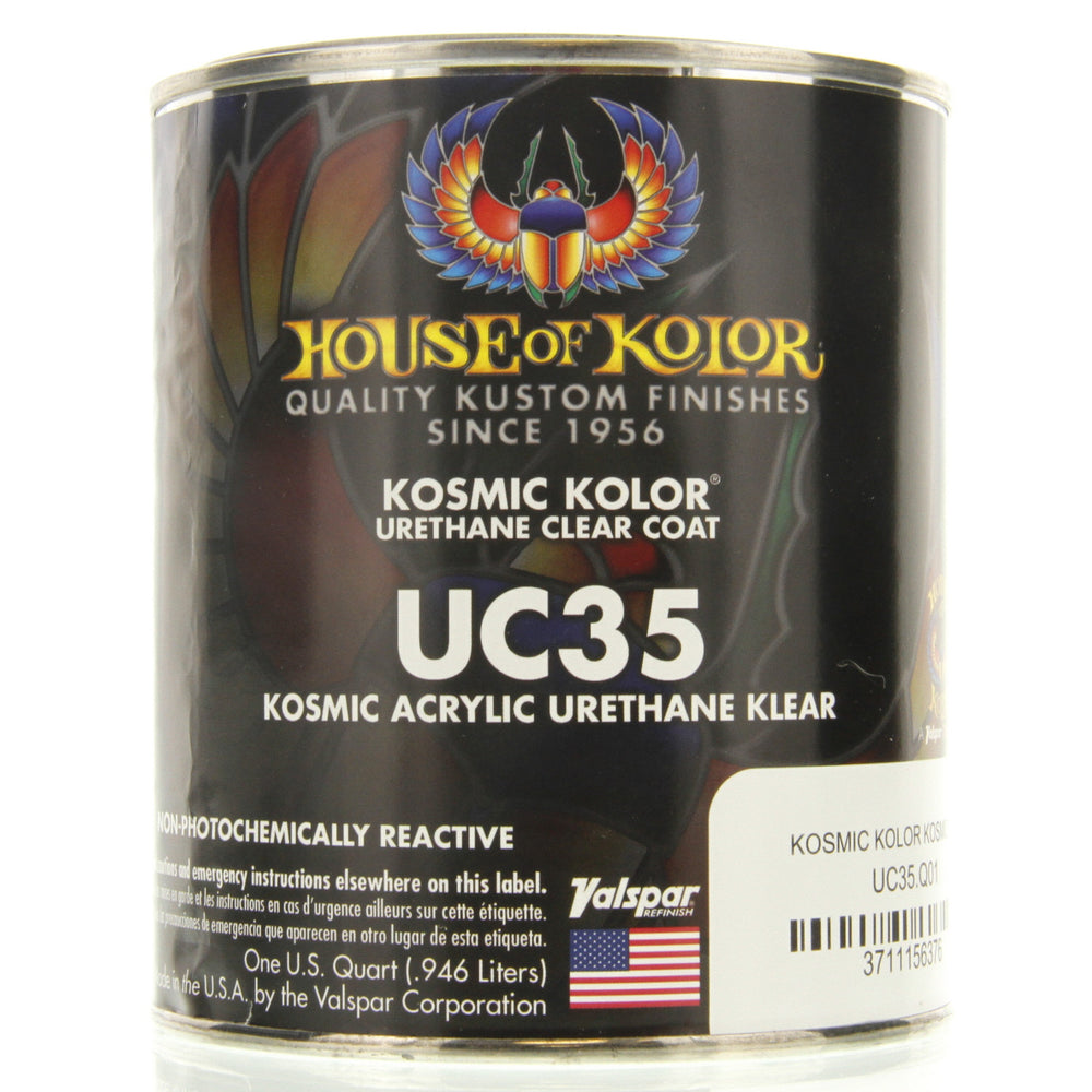 Kosmic Kolor Polyurethane Enamel Low VOC Clearcoat, 1 Quart House of Kolor