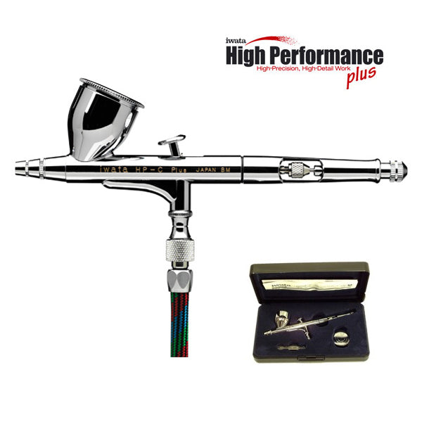 High Performance Plus HP-C Plus - Dual-Action Airbrush with 0.3 mm. Tip and 1/3 oz Gravity Feed Cup