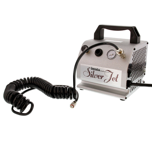 Silver Jet - Quiet, Light Duty, Entry-Level, Compact & Reliable Air Compressor with Air Hose