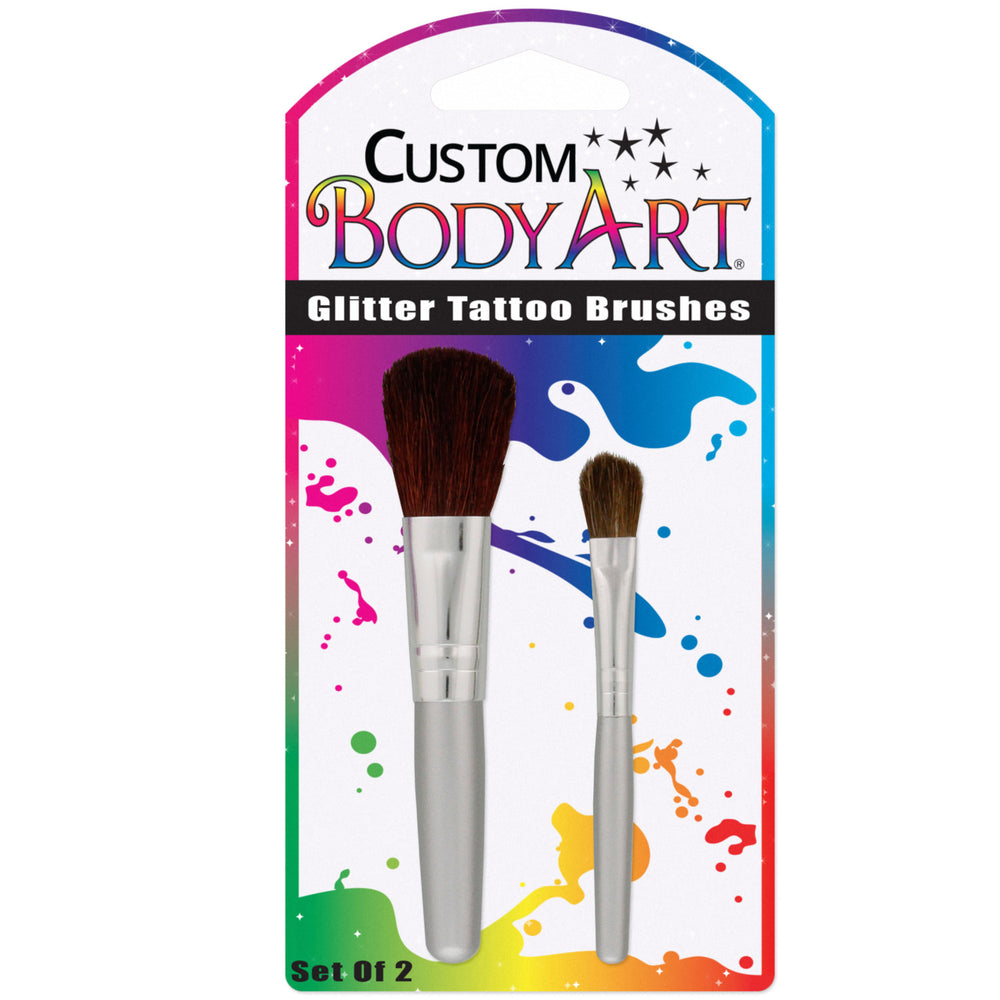 Set of 2 Glitter Tattoo Brushes; Blister Packed