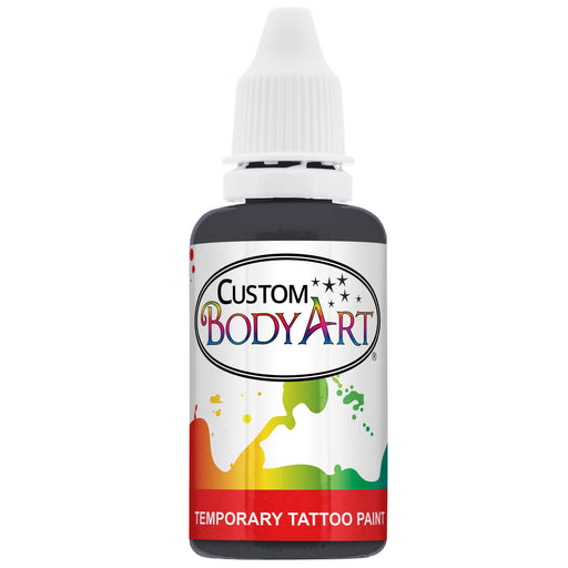 Black Airbrush Temporary Tattoo Body Paint Makeup, 1 oz.
