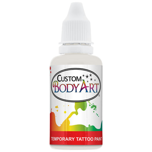 White Airbrush Temporary Tattoo Body Paint Makeup, 1 oz.