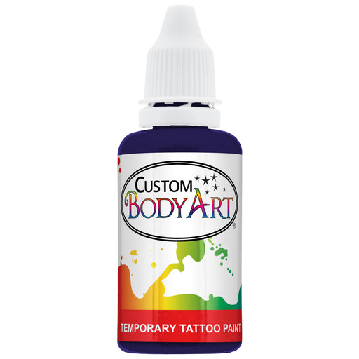 Purple Airbrush Temporary Tattoo Body Paint Makeup, 1 oz.