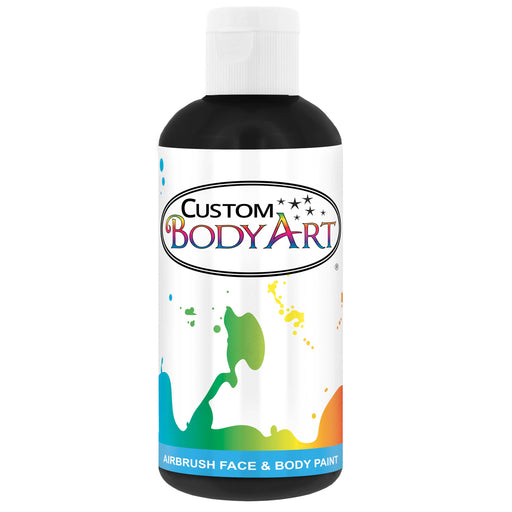 Black Airbrush Face & Body Water Based Paint for Kids, 8 oz.