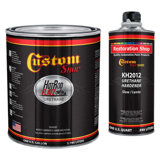 Oxide Yellow - Hot Rod Flatz by Custom Shop Urethane Automotive Flat Matte Car Paint, 1 Gallon Kit