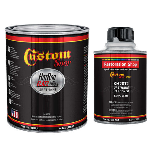 Charcoal Gray Firemist - Hot Rod Flatz by Custom Shop Urethane Automotive Flat Matte Car Paint, 1 Quart Kit