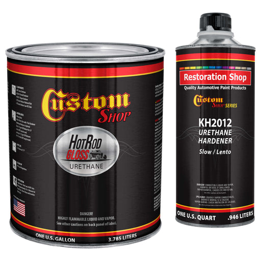 Steel Gray Metallic - Hot Rod Gloss Urethane Automotive Gloss Car Paint, 1 Gallon Kit