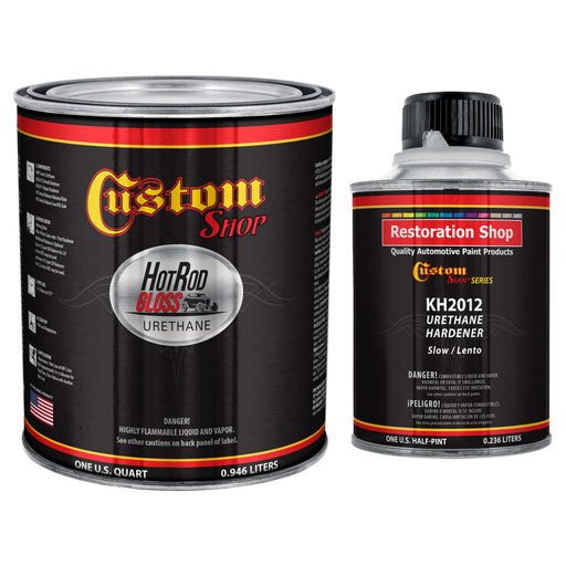 Steel Gray Metallic - Hot Rod Gloss Urethane Automotive Gloss Car Paint, 1 Quart Kit