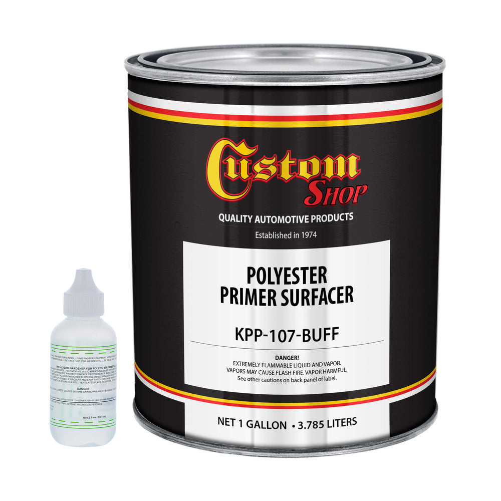 Custom Shop 1 Gallon of Buff Polyester Primer Surfacer High Performance Maximum-Fill Surfacer