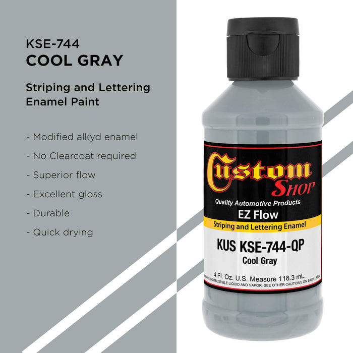 Cool Gray - Ez-Flow Striping & Lettering Enamel, 1/4 Pint