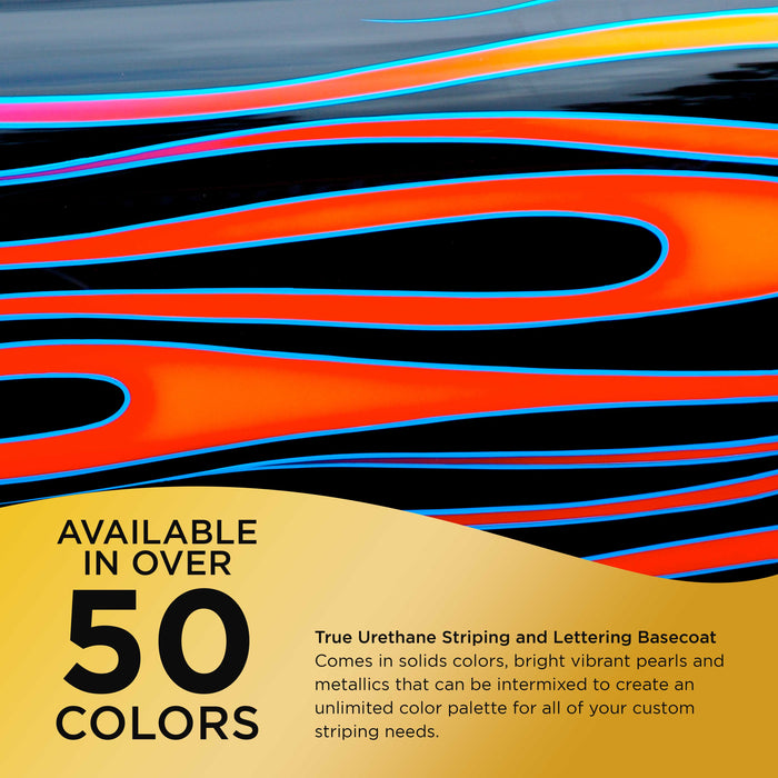 Egyptian Gold Metallic - True-U Pinstriping Urethane Basecoat Metallic Colors, 1/4 Pint