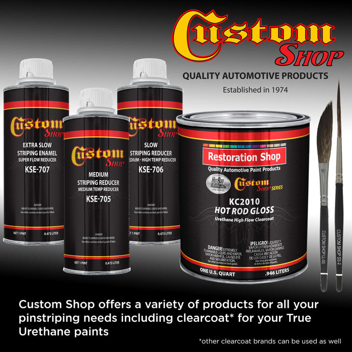 Gunmetal Gray Metallic - True-U Pinstriping Urethane Basecoat Metallic Colors, 1/4 Pint