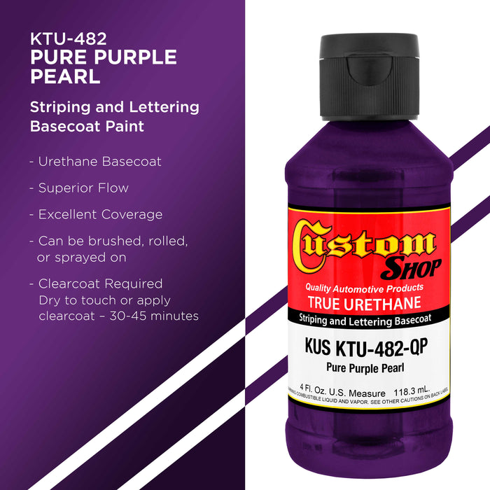 Pure Purple Pearl - True-U Pinstriping Urethane Basecoat Pearl Colors, 1/4 Pint