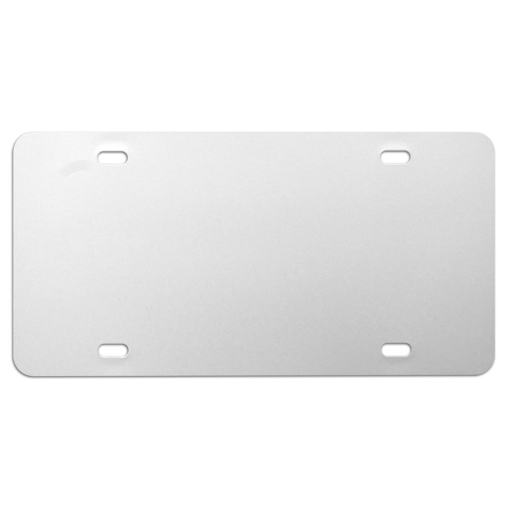 Blank Aluminum License Plate Tag Paint Panels, White (1 ea)