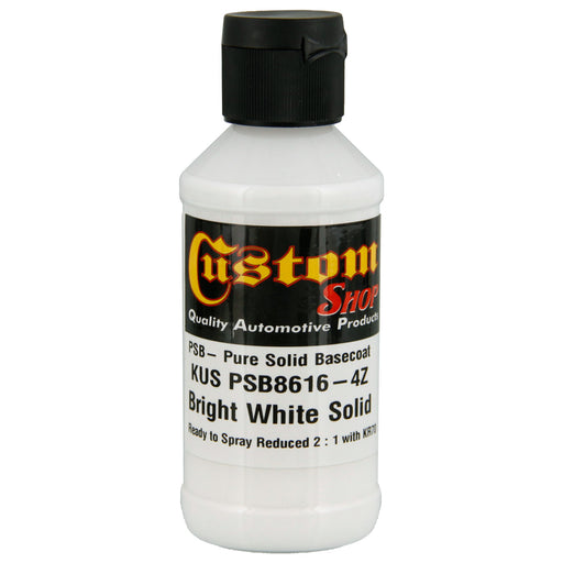 Bright White, PSB Solid Basecoat - 4 oz. Ready to Spray