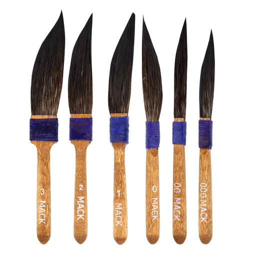 Set of 6 - Original Mack Sword Striper Pinstriping Brush