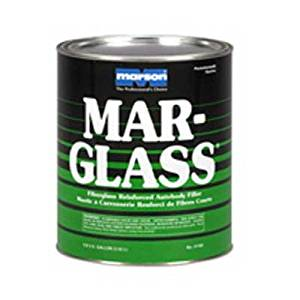3M Marson Marglass 01160 Two-Part Filler - White Paste 1 Gallon Can