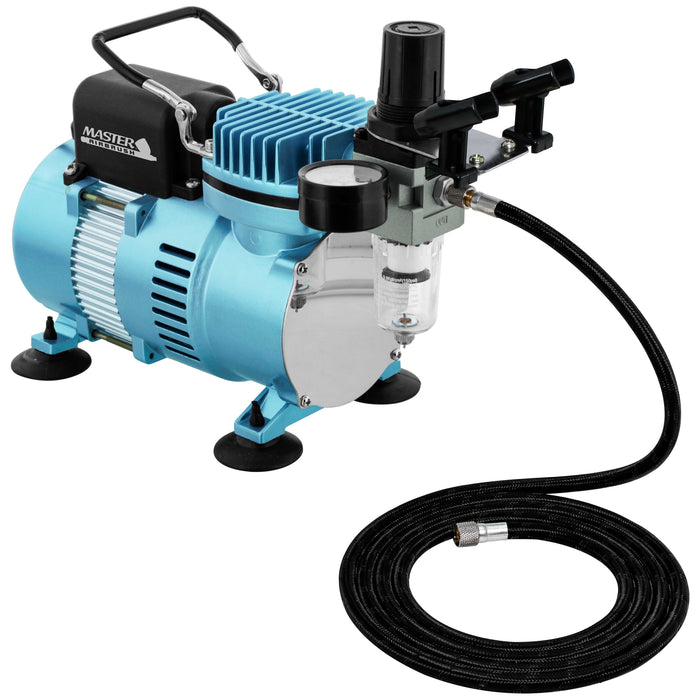 1/5 HP Cool Runner II Dual Fan Air Compressor Kit Model TC-320 - Professional Single-Piston with 2 Cooling Fans, Regulator Water Trap, Holder