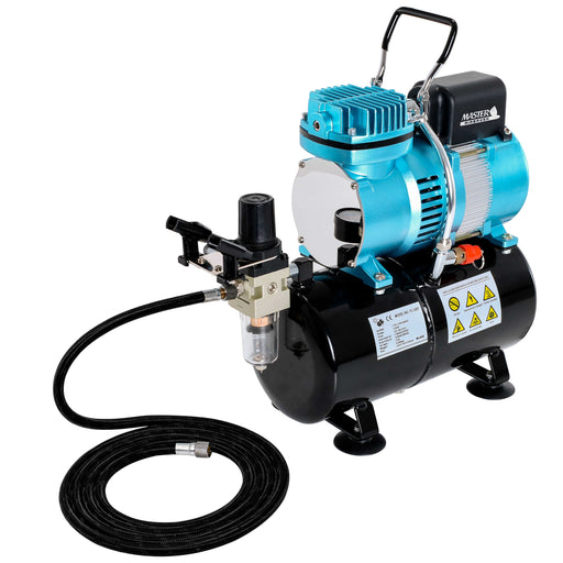 1/5 HP Cool Runner II Dual Fan Tank Air Compressor Kit Model TC-326T - Professional Single-Piston with 2 Cooling Fans, Regulator Water Trap, Holder