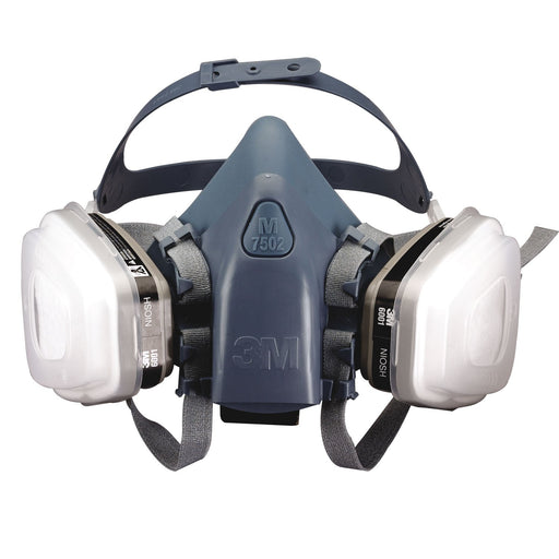 3M Professional Series Medium Half Facepiece Auto Spray Paint Respirator 37078