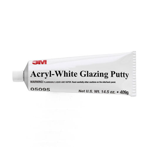 Acryl-White Slow Drying Acrylic Putty 14.5 oz Tube, 05095
