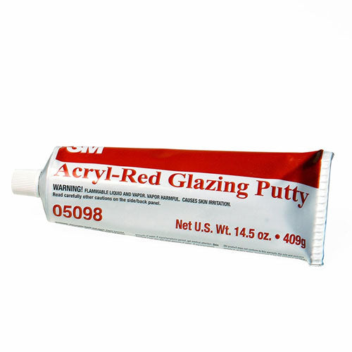 Acryl-Red General Purpose Fast Drying Glazing Putty 14.5 oz Tube, 05098