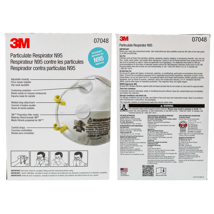 Particulate Respirator Lightweight Safety Dust Mask, N95, 07048 (20/Pack)
