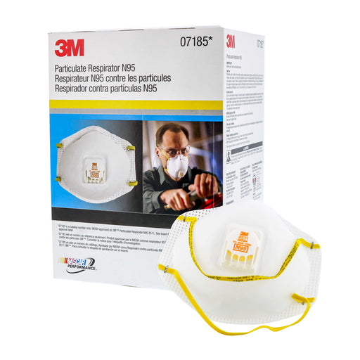 3M 7185/8511 N95 Particulate Respirator Mask, 1 New Box of 10 Masks