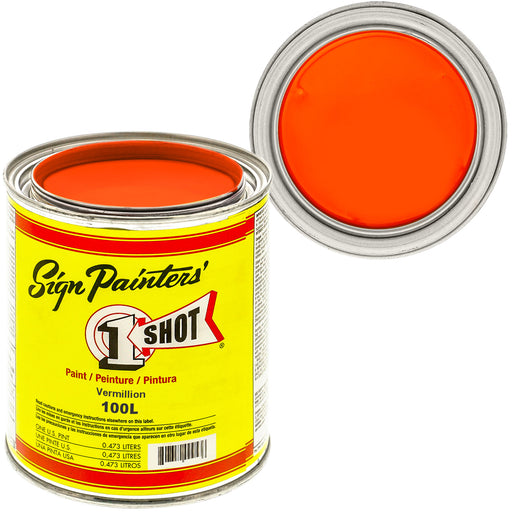Vermillion Pinstriping Lettering Enamel Paint, 1 Quart