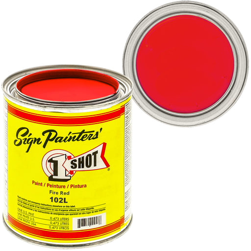 Fire Red Pinstriping Lettering Enamel Paint, 1 Pint