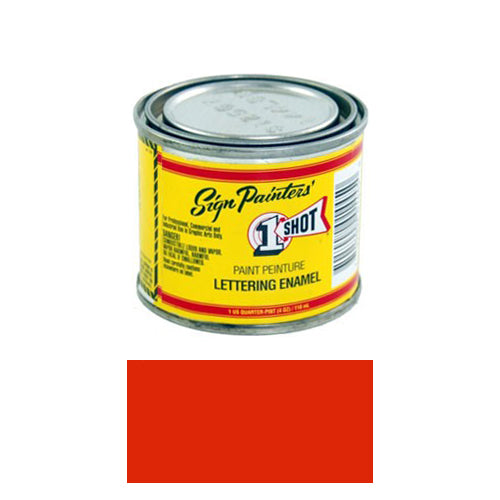 Fire Red Pinstriping Lettering Enamel Paint, 1/4 Pint
