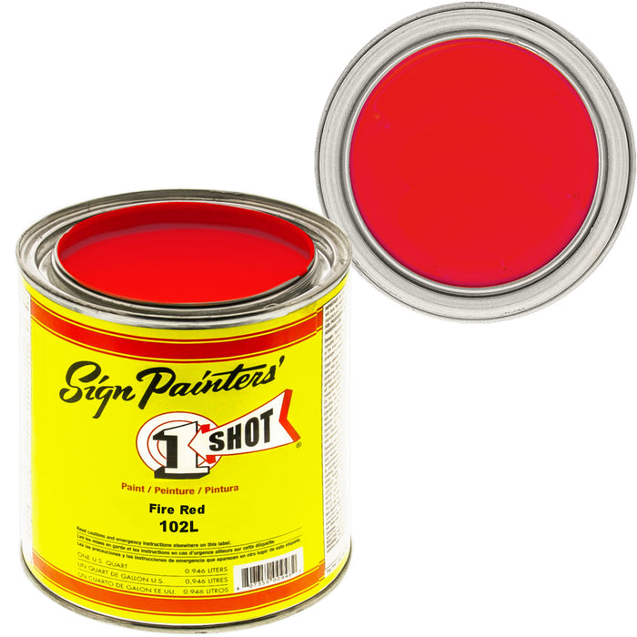 Fire Red Pinstriping Lettering Enamel Paint, 1 Quart