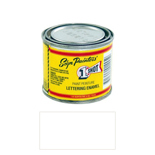 Polar White Pinstriping Lettering Enamel Paint, 1/4 Pint